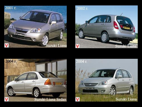 Suzuki Liana Car Review History Of Creation Specifications