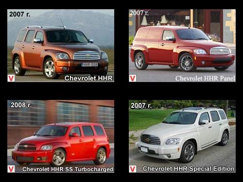 Chevrolet Hhr Vision General Del Coche La Historia De La